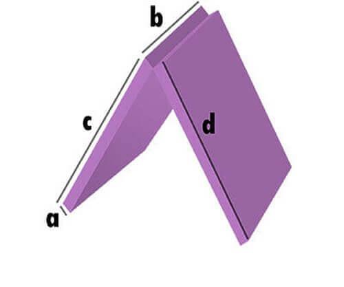 Schaumstoff-Zuschnitt 2-teilig Klappbar