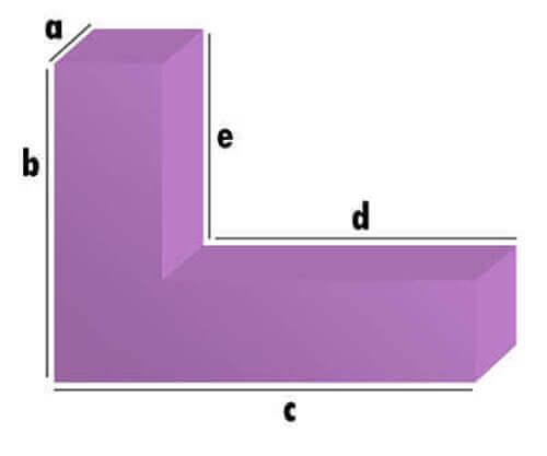 Polster L-Form Zuschnitt