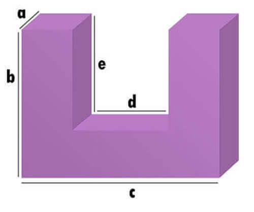 Polster U-Form Zuschnitt
