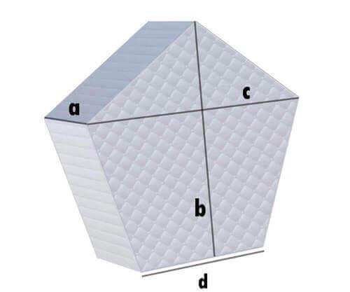 Fünfeck Matratze
