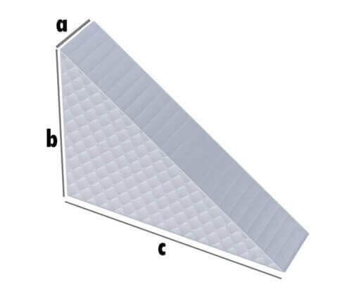 Matratze Rechtwinkeliges Dreieck