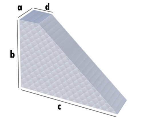 Matratze Dreieck mit Abschnitt