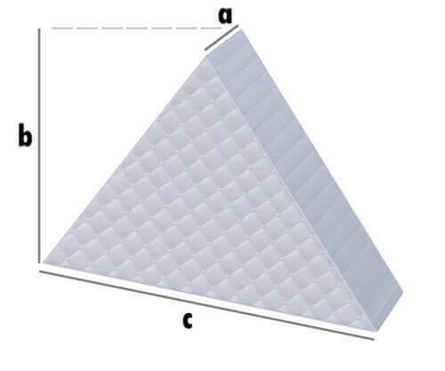 Matratze - Gleichseitiges Dreieck