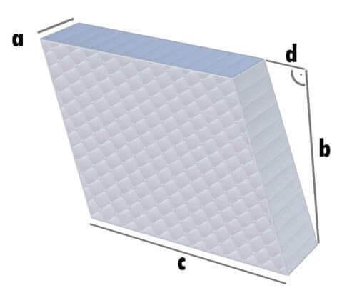 Parallelogramm Matratze