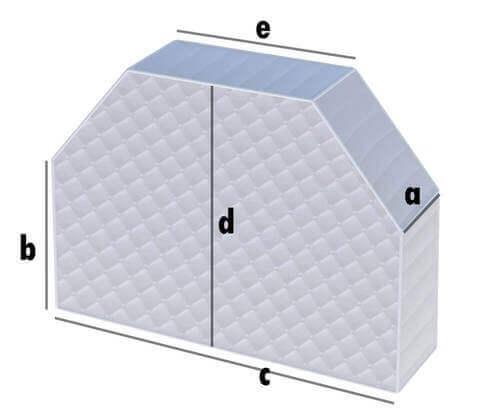 Matratze Rechteck mit 2 Schrägschnitten
