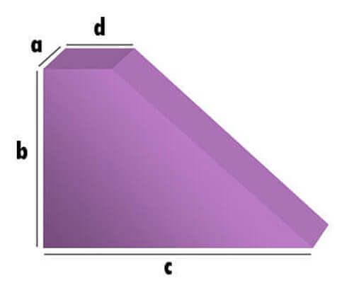 Bezug nach Maß Dreieck mit Abschnitt