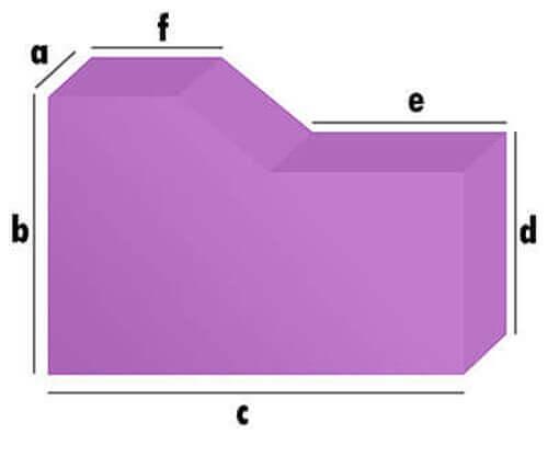 Hundekissen / Hundematratze - Rechteck mit kleinem Abschnitt