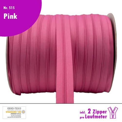 Reißverschluss Nr 515 Pink