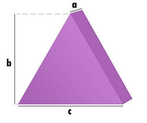 Schaumstoff-Zuschnitt - Gleichseitiges Dreieck