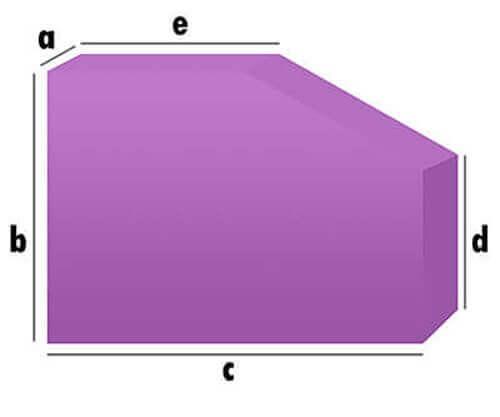 Schaumstoff-Zuschnitt - mit Schräg-Eckenabschnitt