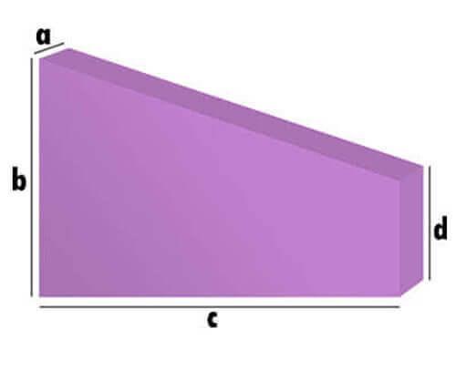 Schaumstoff-Zuschnitt - Rechteck mit Anschnitt