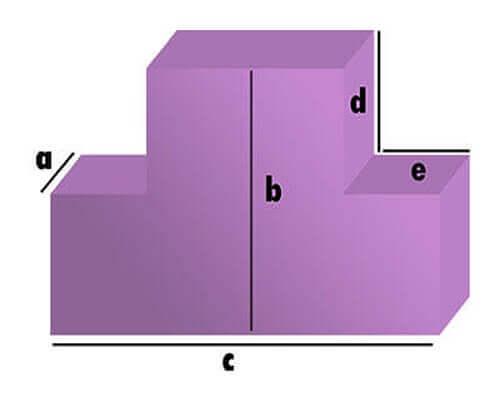 Schaumstoff-Zuschnitt - Rechteck mit 2 Eckabschnitten