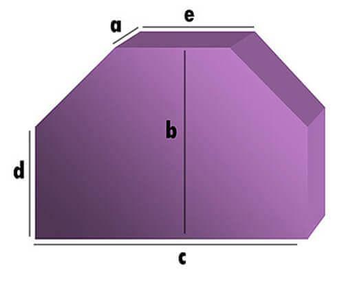 Schaumstoff-Zuschnitt - Rechteck mit 2 Schrägabschnitten