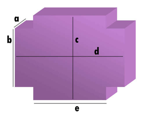 Schaumstoff-Zuschnitt - Rechteck mit 4 Eckabschnitten