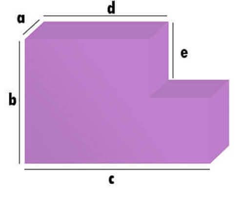 Schaumstoff-Zuschnitt - Rechteck mit Eckabschnitt