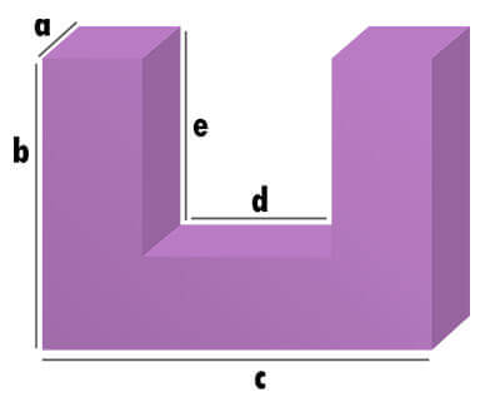 Schaumstoff-Zuschnitt - U-Form Zuschnitt